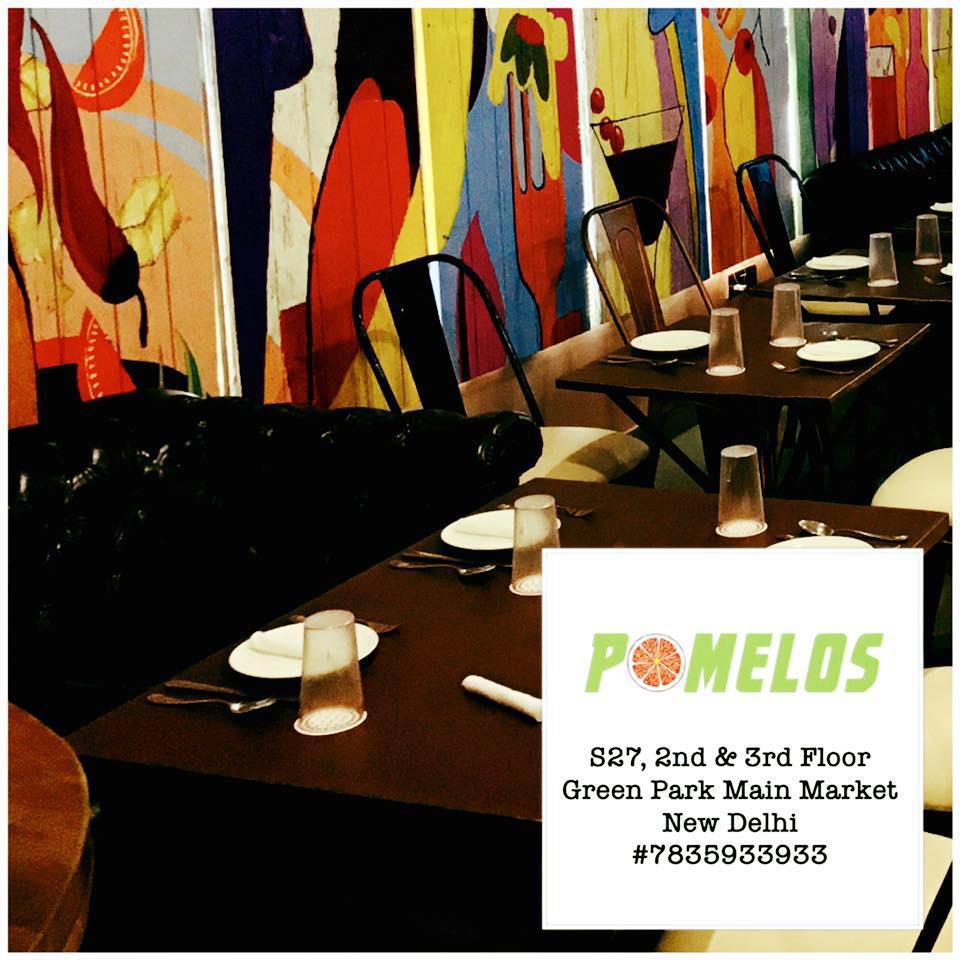 Pomelos Cafe & Bar : Green Park, Green Park,New Delhi logo